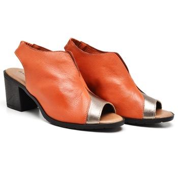 Sandália London Prata Velho e Laranja - LD088/013 - Balatore Shoes