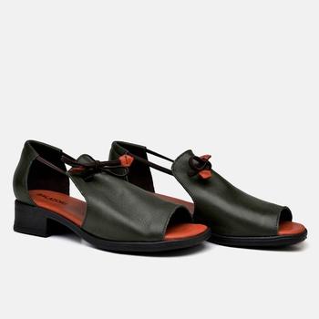 Sandália Florença Oliva e Laranja - FL003/015 - Balatore Shoes