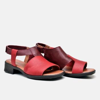 Sandália Florença Bordô e Carmin - FL004/014 - Balatore Shoes