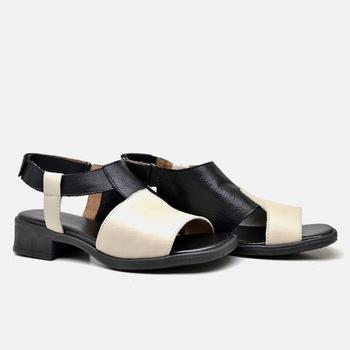 Sandália Florença Off White e Preta - FL004/015 - Balatore Shoes
