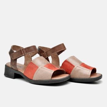 Sandália Florença Nude/Laranja/Tabaco - FL006/010 - Balatore Shoes