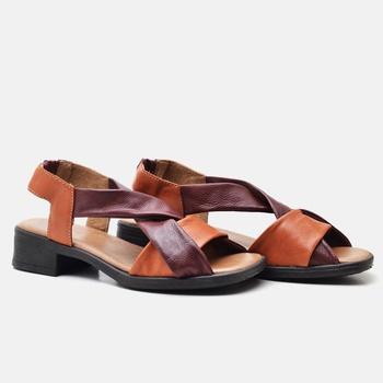Sandália Florença Laranja e Vermelha - FL008/018 - Balatore Shoes