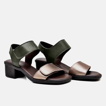 Sandália Ibiza Dourada e Verde Miitar - IB091/014 - Balatore Shoes