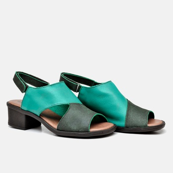 Sandália Ibiza Verde Esmeralda e Verde Estonado -... - Balatore Shoes