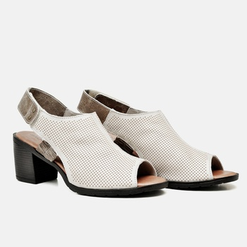 Sandália London Off White e Areia - LD043/041 - Balatore Shoes