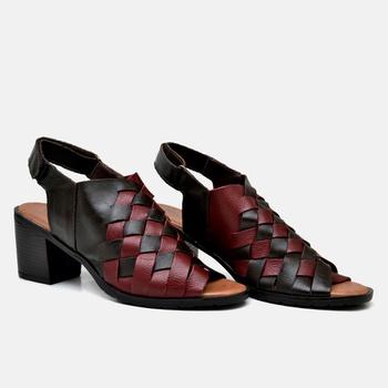 Sandália London Vermelha e Café - LD074/016 - Balatore Shoes