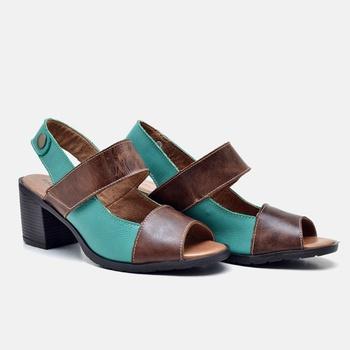 Sandália London Esmeralda e Tabaco - LD079/003 - Balatore Shoes