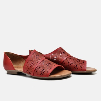 Flat Rasteira Maresias Carmin - MA022/018 - Balatore Shoes