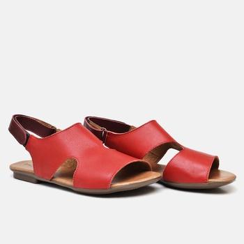 Flat Rasteira Maresias Carmin e Vermelho - MA098/0... - Balatore Shoes