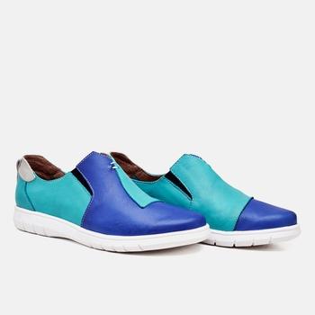 Tênis Nômade Azul Turquesa e Marinho - NM003/001 - Balatore Shoes
