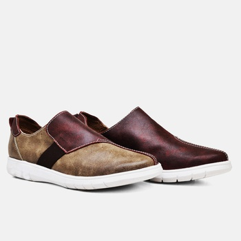 Tênis Nômade Areia e Vermelho - NM004/003 - Balatore Shoes