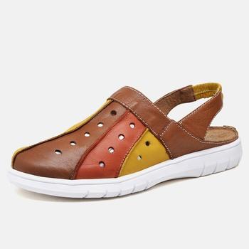 Mule Nômade Whisky/Amarelo/Laranja - NO001/001 - Balatore Shoes