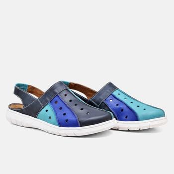 Mule Nômade Azul Marinho e Azul Turquesa - NO001/0... - Balatore Shoes