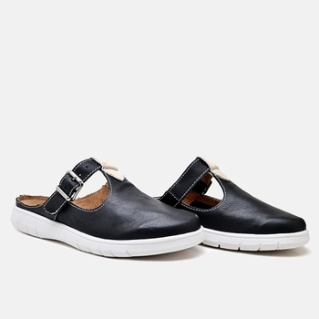 Mule Nômade Preto e Off White - NO003/001 - Balatore Shoes