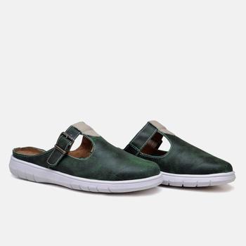 Mule Nômade Estonado Verde - NO003/003 - Balatore Shoes