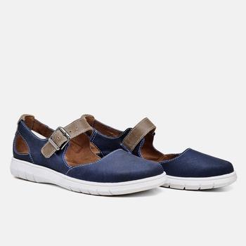 Sapatilha Nômade Azul Marinho e Areia - NO005/001 - Balatore Shoes