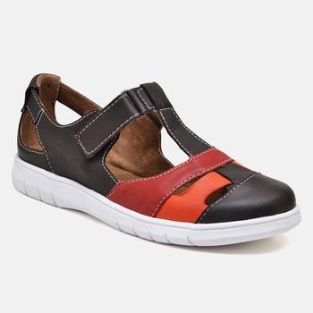 Sapatilha Nômade Café/Carmin/Laranja - NO008/001 - Balatore Shoes
