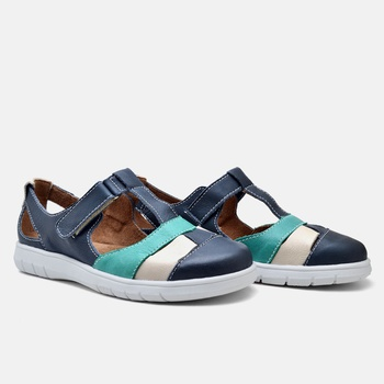 Sapatilha Nômade Azul Marinho/Turquesa/Off White -... - Balatore Shoes