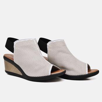 Sandália Veneza Natural e Off White - VN007/019 - Balatore Shoes
