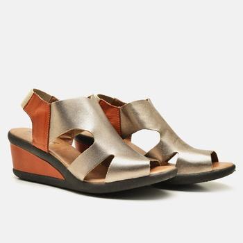Sandália Veneza Prata Velho e Laranja - VN024/021 - Balatore Shoes