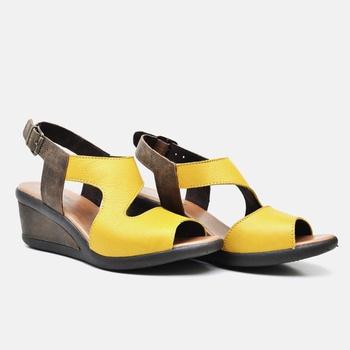 Sandália Veneza Amarela e Café - VN028/012 - Balatore Shoes