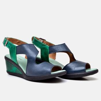 Sandália Veneza Azul Marinho e Verde - VN028/013 - Balatore Shoes