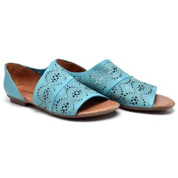 Flat Rasteira Maresias Azul Turquesa - MA022/038 - Balatore Shoes