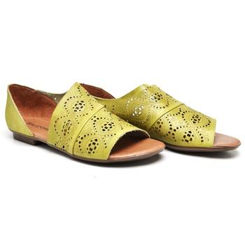 Flat Rasteira Maresias Lima - MA022/043 - Balatore Shoes