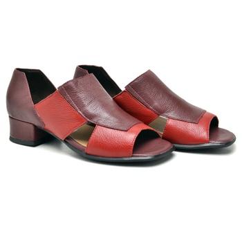 Sandália Mônaco Carmim e Vermelha - MN001/012 - Balatore Shoes