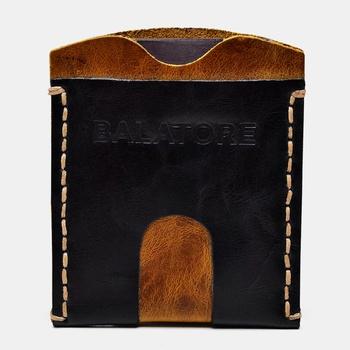 Porta Cartão Preto e Amarelo - PC002/002 - Balatore Shoes