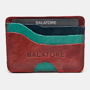 Porta Cartão Vermelho/Esmeralda/Marinho - PC001/00... - Balatore Shoes
