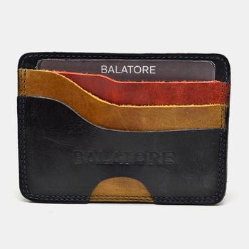 Porta Cartão Preto/Amarelo/Laranja - PC001/008 - Balatore Shoes