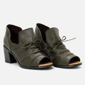 Open Boot London Verde Militar - LD049/007 - Balatore Shoes
