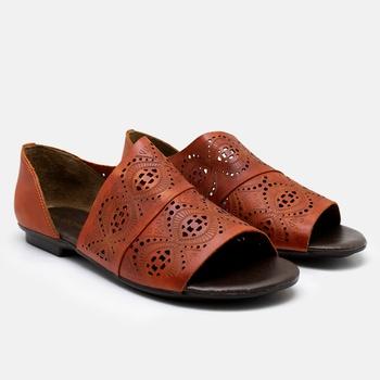 Flat Rasteira Maresias Laranja - MA022/014 - Balatore Shoes