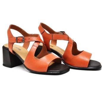 Sandália Turim Laranja e Café - TR003/003 - Balatore Shoes