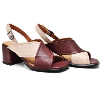 Sandália Turim Nude e Vermelho - TR004/002 - Balatore Shoes
