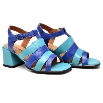 Sandália Turim Azul e Turquesa - TR005/004 - Balatore Shoes
