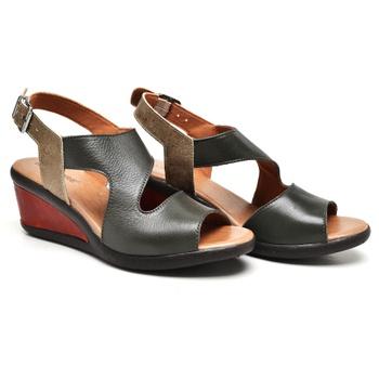 Sandália Veneza Oliva/Areia/Laranja - VN028/020 - Balatore Shoes