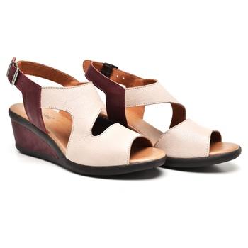 Sandália Veneza Nude e Vermelho - VN028/021 - Balatore Shoes