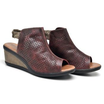 Sandália Veneza Vermelho e Areia - VN036/003 - Balatore Shoes