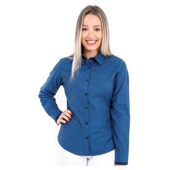 Camisa Azul Feminina Manga Longa Mahé - PI533013 - PIMENTAROSADA