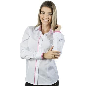 Blusa Branca Social Manga Longa Angelina Top - PI8... - PIMENTAROSADA