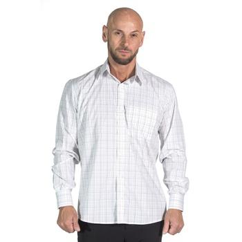 Camisa Branca Xadrez Social Manga Longa Masculina ... - PIMENTAROSADA