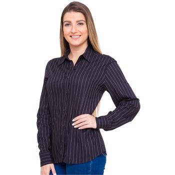 Camisa Preta Feminina Viscose Manga Longa Natanne ... - PIMENTAROSADA