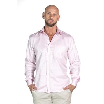 Camisa Rosa Social Manga Longa Masculina Lorenzo ... - PIMENTAROSADA