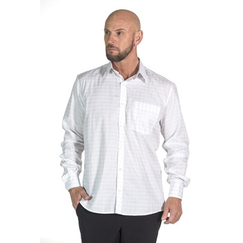 Camisa Xadrez Branca Social Manga Longa Masculina ... - PIMENTAROSADA
