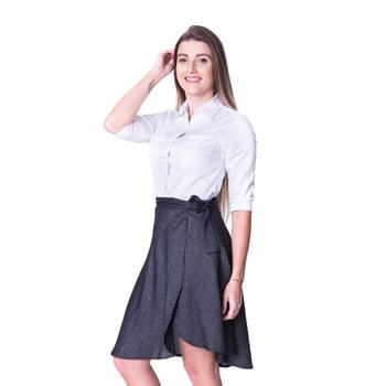Saia Preta Transpassada Rachel - PI1011 - PIMENTAROSADA