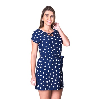 Vestido Poá Pimenta Rosada Nádia - PI1001 - PIMENTAROSADA