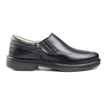 Sapato Social Pipper em Couro Mestiço Preto - Pipper Store Confortavelmente Seu