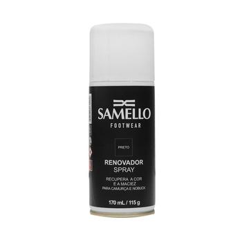 AC - Renovador Spray Preto - Ativa As Cores Dos Calçados E Acessórios De Couro Samello - SAMELLO